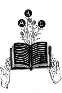 manos y libro